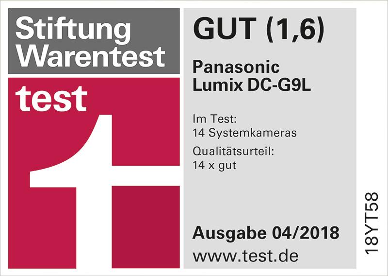 Stiftung Warentest 04/18 - Panasonic Lumix DC-9GL