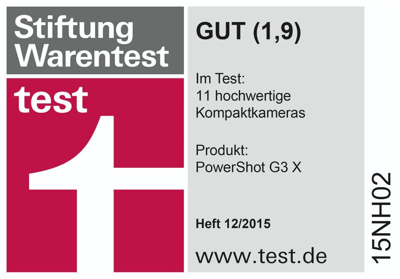 Stiftung Warentest 12/15 - PowerShot G3
